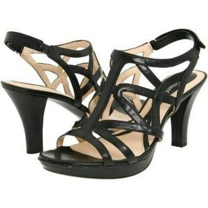 Strappy Caged Heel Sandals